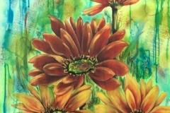 Fleurs orangées