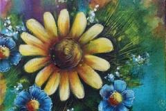Jardinage jaune et bleu