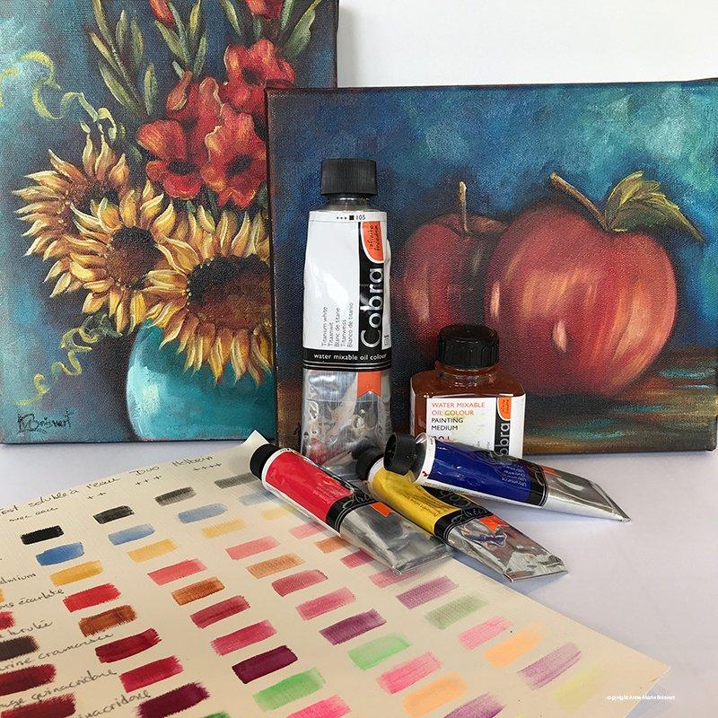 Les peintures à l'huile soluble à l'eau