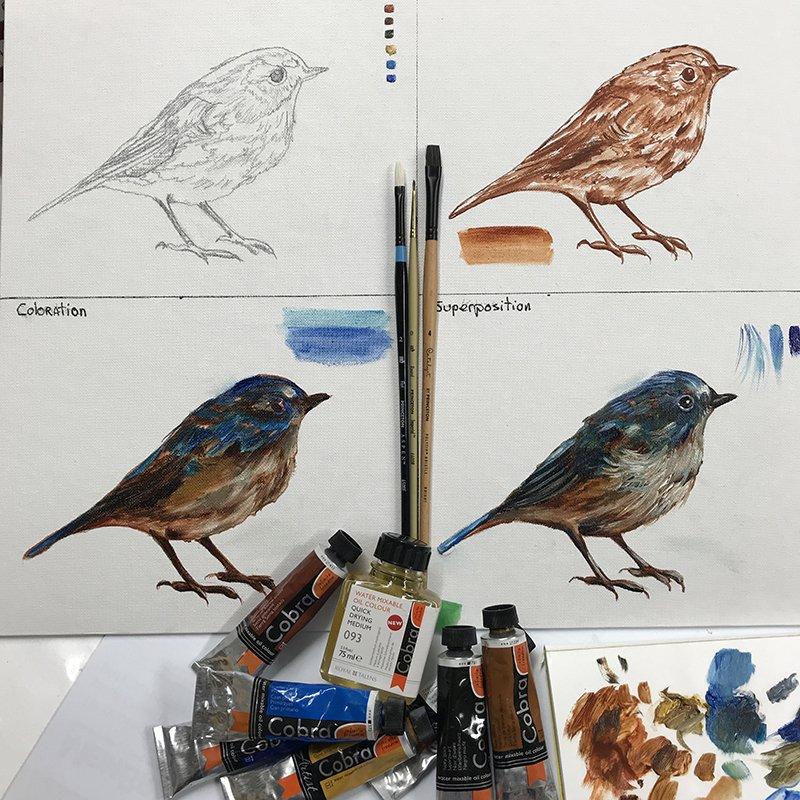 Trucs et conseils pour peindre à l'huile