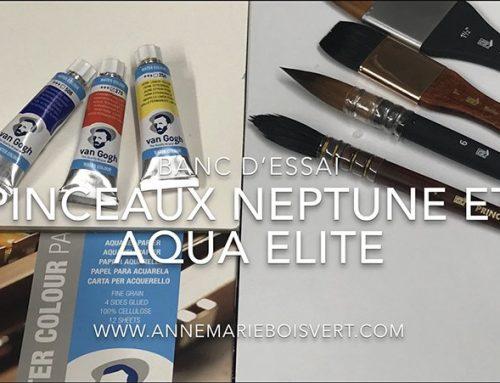 Banc d'essai, pinceaux Neptune et Aqua Elite