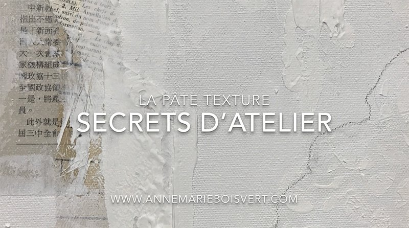 La pâte texture, secret d'atelier