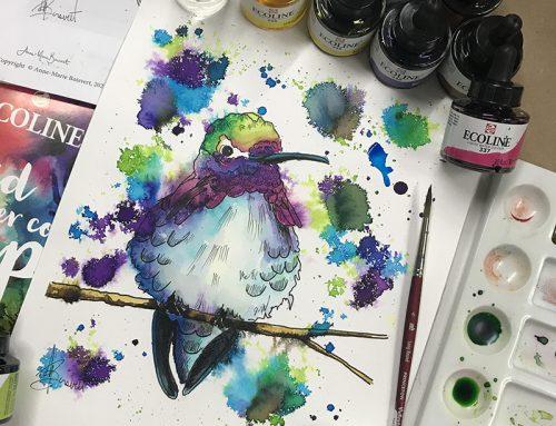 L'Ecoline est une aquarelle liquide aux couleurs éclatantes